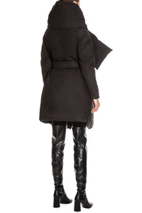 Sculpted Waterproof Puffer Coat - Black