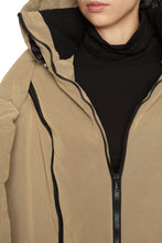 Load image into Gallery viewer, Sculpted Scarf Puffer Coat - Beige
