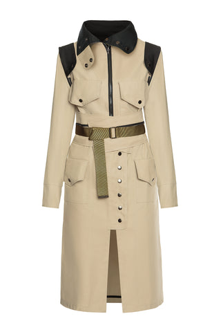 Convertible Raincoat - Beige