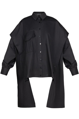 Transformer Cotton Shirt - Black