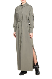 Cargo Shirtdress - Grey