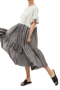 Alia Tiered Dress - Grey