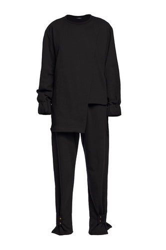 Tunic Track Suit - Black