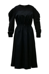 Antoinette Puff Sleeve Dress - Black