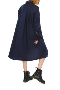 Triple Row Button Front Shirtdress