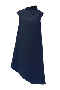 Magda Asymmetric Dress - Blue