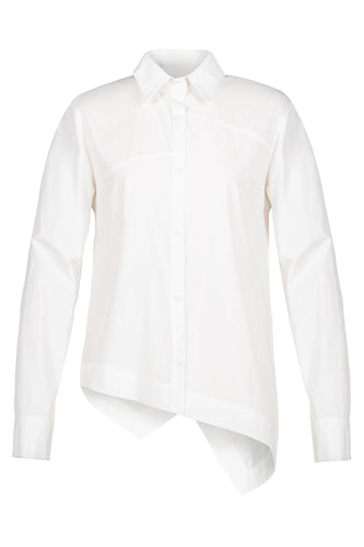 Asymmetric Hem Shirt - White