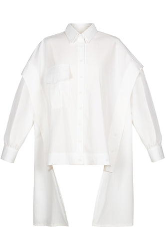 Transformer Cotton Shirt - White