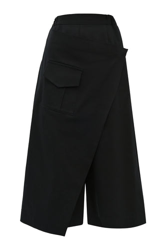 Wrap Cargo Pocket Pants - Black