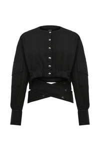 Embrace Short Jacket - Black