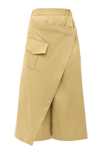 Wrap Cargo Pocket Pants - Beige