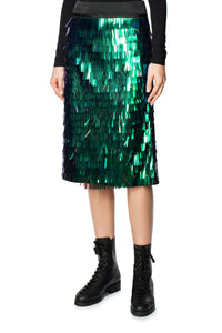 Metallic Fringe Skirt