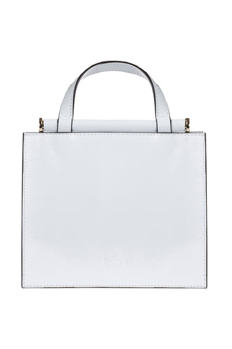 Alda Leather Tote - White