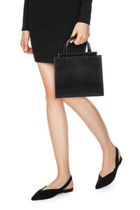 Alda Leather Tote - Black