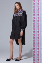 Load image into Gallery viewer, Ruffle Detail Shirtdress - Black