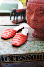 Load image into Gallery viewer, Quilted Leather Mules - Orange
