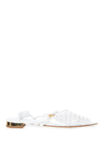 Load image into Gallery viewer, PVC Stud Flat Sandals - White