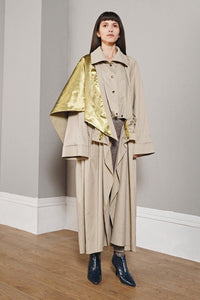 Metallic Smocked Raincoat
