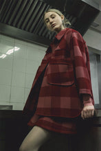 Load image into Gallery viewer, Mod Plaid Oversized Jacket