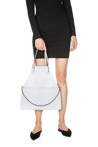 Nilde Leather Tote - White