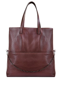 Nilde Leather Tote - Brown