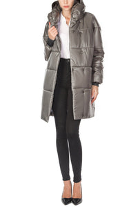 Diana Cocoon Coat - Grey