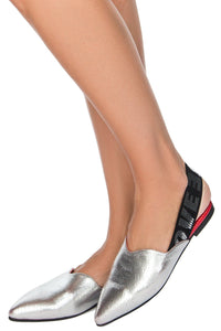 LOVE Metallic Slingbacks