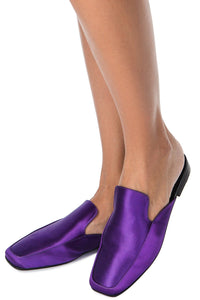 Satin Mules - Purple