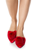 Load image into Gallery viewer, Velvet Fur Puff Mules