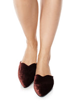 Load image into Gallery viewer, Velvet Mules - Red