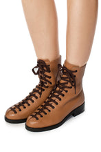 Load image into Gallery viewer, Nubuck Lace-Up Boots - Brown