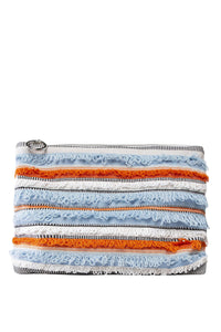 Saka Fringe Clutch - Light Blue