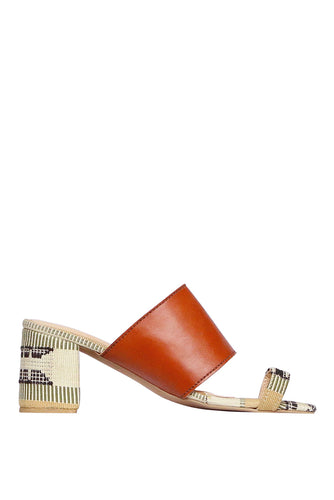 Kakawa Toe Mules - Brown Leather