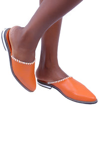 Jude Mule Slippers - Orange