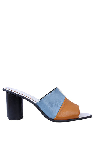 Oby Leather Patchwork Mules