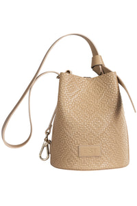 Sibilla Leather Bucket Bag - Beige