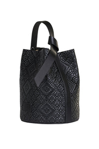 Sibilla Leather Bucket Bag - Black