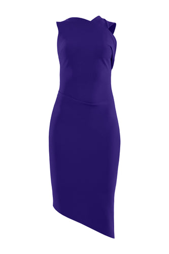 Asymmetric Sculpted Dress - Ultra Violet
