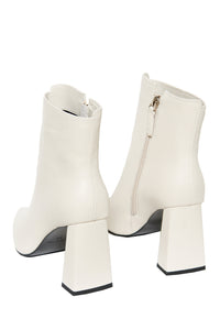Superiority High Heel Booties - White