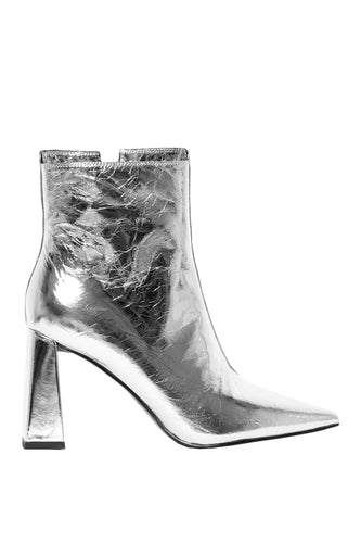 Superiority High Heel Booties - Silver