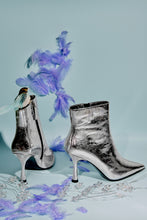 Load image into Gallery viewer, Purpose Kitten Heel Booties - Silver