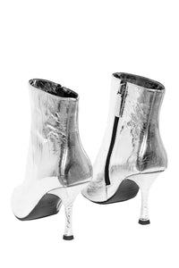 Purpose Kitten Heel Booties - Silver