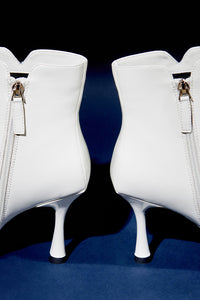 Purpose Kitten Heel Booties - White