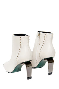 MyAudacity High Heeled Booties - White