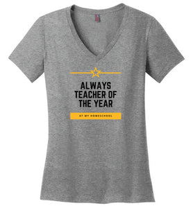 Always Teacher of the Year V-Neck