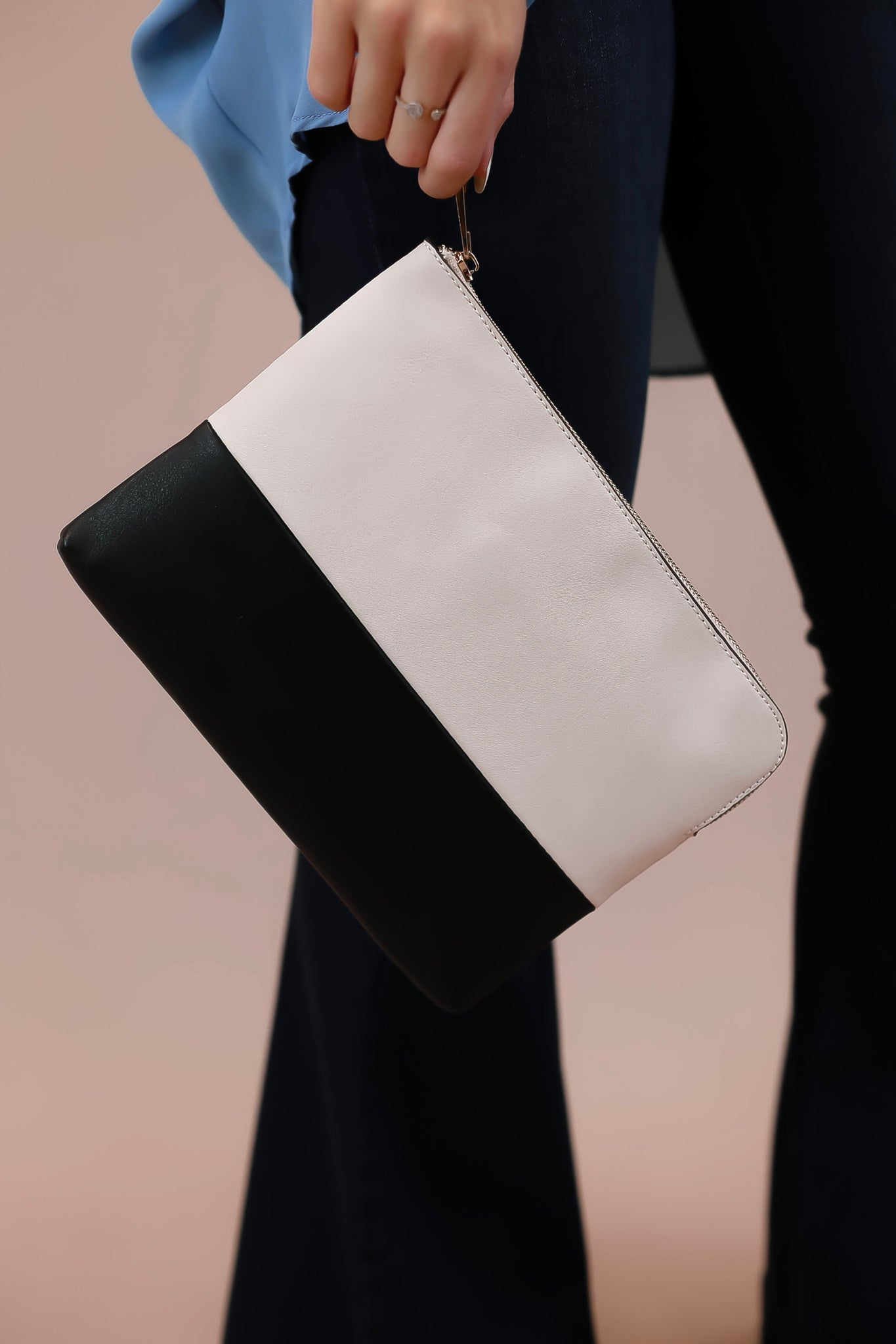 Cane Colorblock Clutch