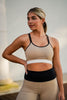 No Comparison Color Block Sports Bra
