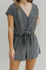 Above All Tie Front Romper