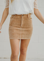Point Of View Corduroy Skirt