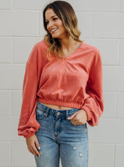 Stephanie V Neck Sweater Top